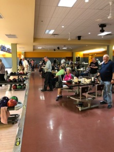 Bowlers having a lot of fun at our Turkey Shoot!