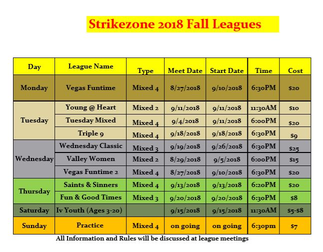 Winter League Listing